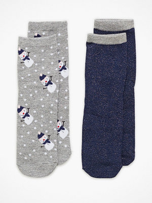 Strumpor - Pieces Pcsally Lurex 2 Pack Socks If