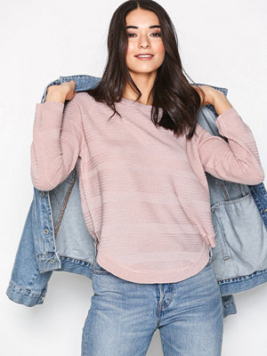 Only onlCAVIAR L/S Pullover Knt Noos Ljus Rosa