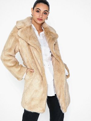 Topshop Luxe Faux Fur Coat
