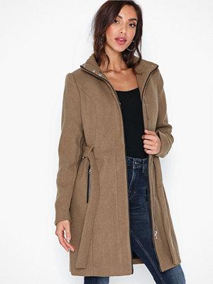 Vero Moda Vmclassbessy 3/4 Wool Jacket Ga Mörk Brun