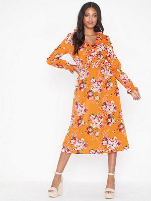 Vero Moda Vmane L/S Calf Fril Dress Exp