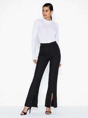 Glamorous svarta byxor High Waisted Slit Trousers