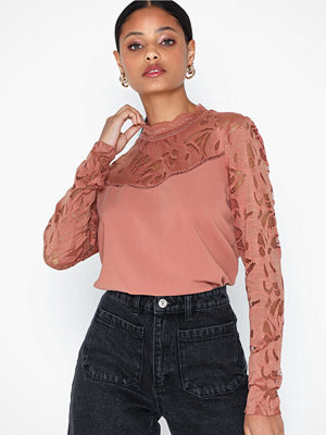 Vila Vistasia L/S Solid Lace Top-Ev