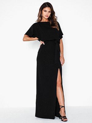 Festklänningar - Ax Paris Short Sleeve Belt Maxi Dress