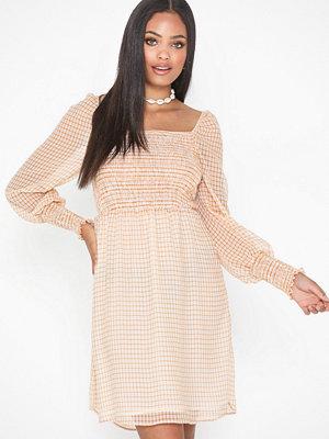 Only Onlelle L/S Check Short Dress Wvn