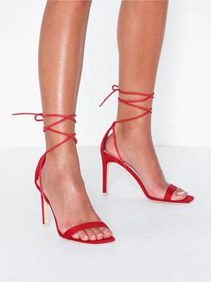 Pumps & klackskor - NLY Shoes Square Heel Sandal Röd