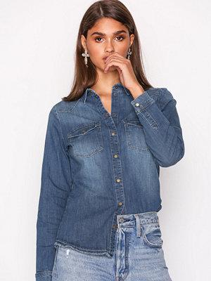 Only onlKAYLIN L/S Raw Dnm Shirt PIM3062