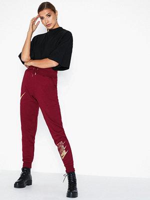 Nike vinröda byxor med tryck W Nsw Pant Bb Shine