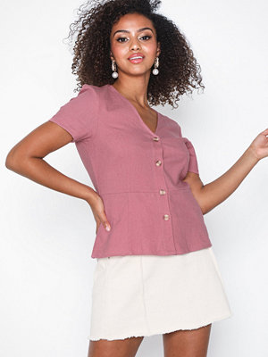 Vero Moda Vmanna Milo Ss Button Top Wvn