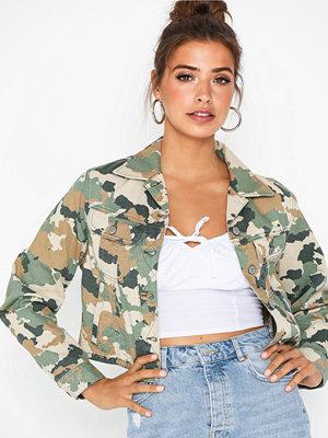 Jeansjackor - Lee Jeans Cropped Rider Jacket Camouflage