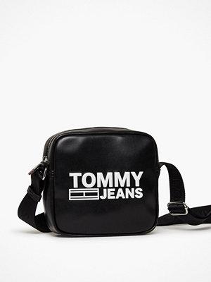 Tommy Jeans svart axelväska med tryck Tjw Texture Pu Crossover