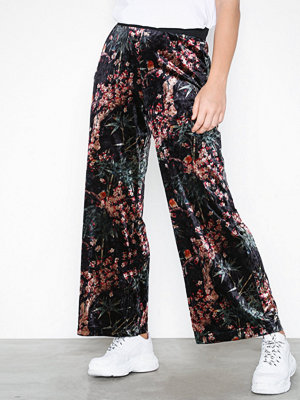 Only mönstrade byxor onlALEX X Wide Printed Velvet Pant