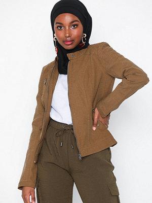 Skinnjackor - Only onlSTEADY Faux Leather Jacket Otw