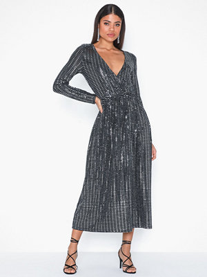 Only Onlrebecca L/S Glitter Maxi Dress J