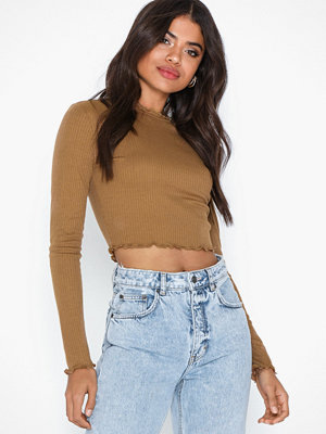 Pieces Pcirma Cropped Ls Top