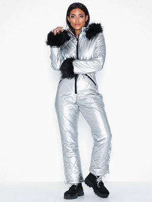 Missguided Ski Snow Suit Silver
