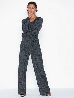 Jumpsuits & playsuits - NLY Trend Rib Glitter Jumpsuit