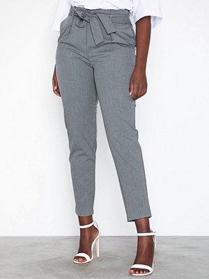 Only grå byxor onlNICOLE Paperbag Ankel Pants Wvn