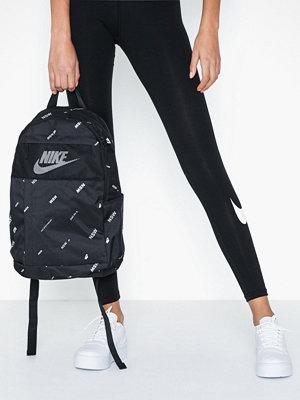 Nike svart mönstrad ryggsäck Nk Elmntl Bkpk - 2.0 Aop