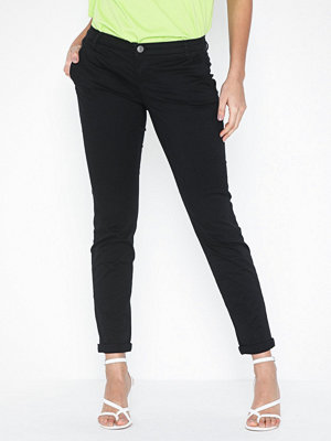 Only svarta byxor onlPARIS Low Skinny Chino Pants Pnt