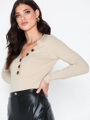 Vero Moda Vmchip Karis Ls V-Neck Button Blous