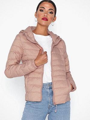 Only onlTAHOE Hood Jacket Otw Noos Ljus Rosa