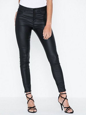 Noisy May svarta byxor Nmkimmy Nw Coated Ankle Pants Bl No