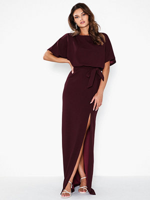 Ax Paris Short Sleeve Belt Maxi Dress