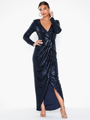 NLY Eve Sequin Wrap Gown