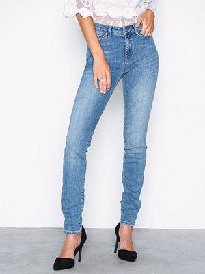 Selected Femme Slfida Mw Skinny Mid Blue Jeans W