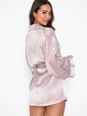 Missguided Embroidery Bridesmaid Robe