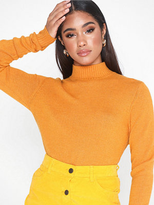 Vila Viril L/S Turtleneck Knit Top-Noos Orange