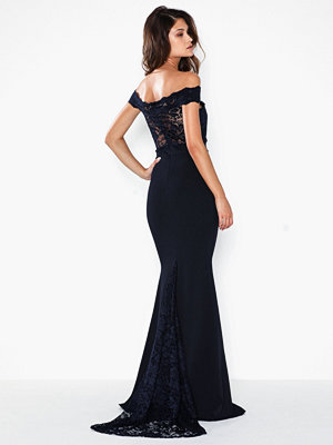 Missguided Bridesmaid Bardot Lace Fishtail Maxi