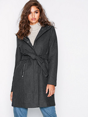 Vero Moda Vmclassbessy 3/4 Wool Jacket Ga Mörk Grå