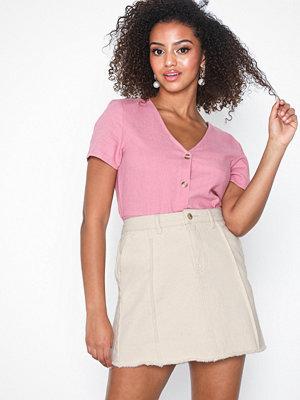 Only onlSAFARI Raw Edge Skirt Pnt
