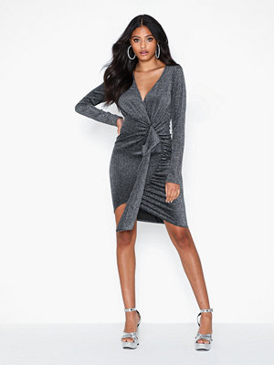 Ax Paris Wrapped Glitter Mini Dress