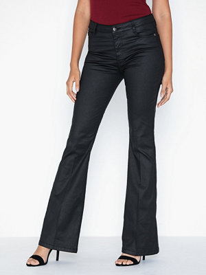 co'couture svarta byxor Denzel Coated Boot Cut Jeans