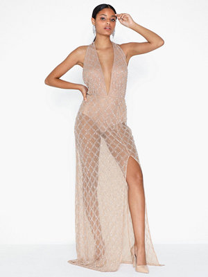 Missguided Drop Pearl Embellished Dress