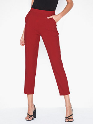 NLY Trend mörkröda byxor Gorgeous Crepe Pants
