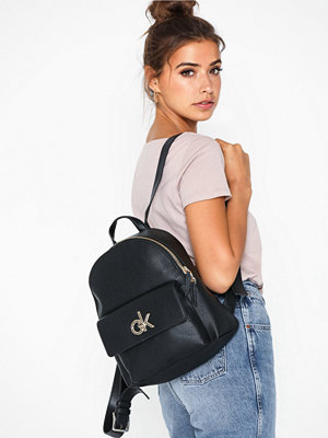 Calvin Klein svart ryggsäck Re-Lock Backpack