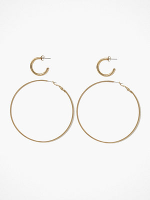 Pieces örhängen Pcemani Hoop Earrings 2-Pack