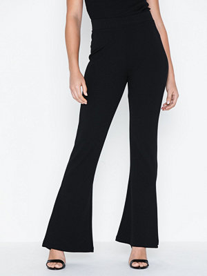 NLY Trend svarta byxor Folded Front Tailored Pants