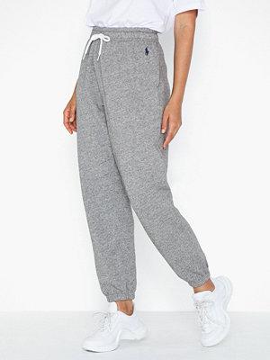 Polo Ralph Lauren ljusgrå byxor Po Sweatpant-Ankle-Pant