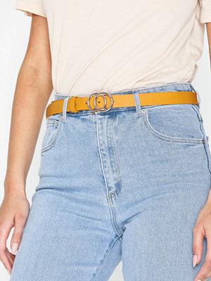 Pieces Pckarren Jeans Belt D2D Mörk Gul