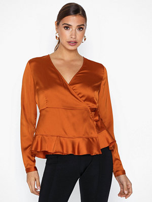 Vero Moda Vmhenna Satin L/S Wrap Top Exp