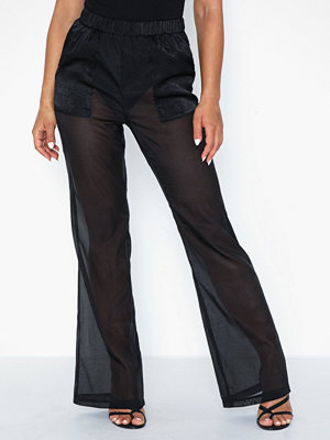 Missguided byxor Organza Wide Leg Trouser with Pockets