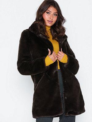 Fuskpälsjackor - Vero Moda Vmvallilea 3/4 Faux Fur Jacket
