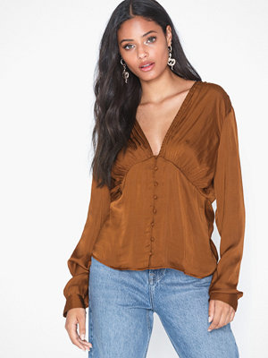 Vero Moda Vmlara L/S Button Detail Blouse Fx