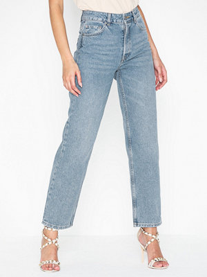 Selected Femme Slfkate Hw Straight Mid Blue Jeans