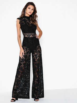 Jumpsuits & playsuits - Rare London High Neck Lace Jumpsuit